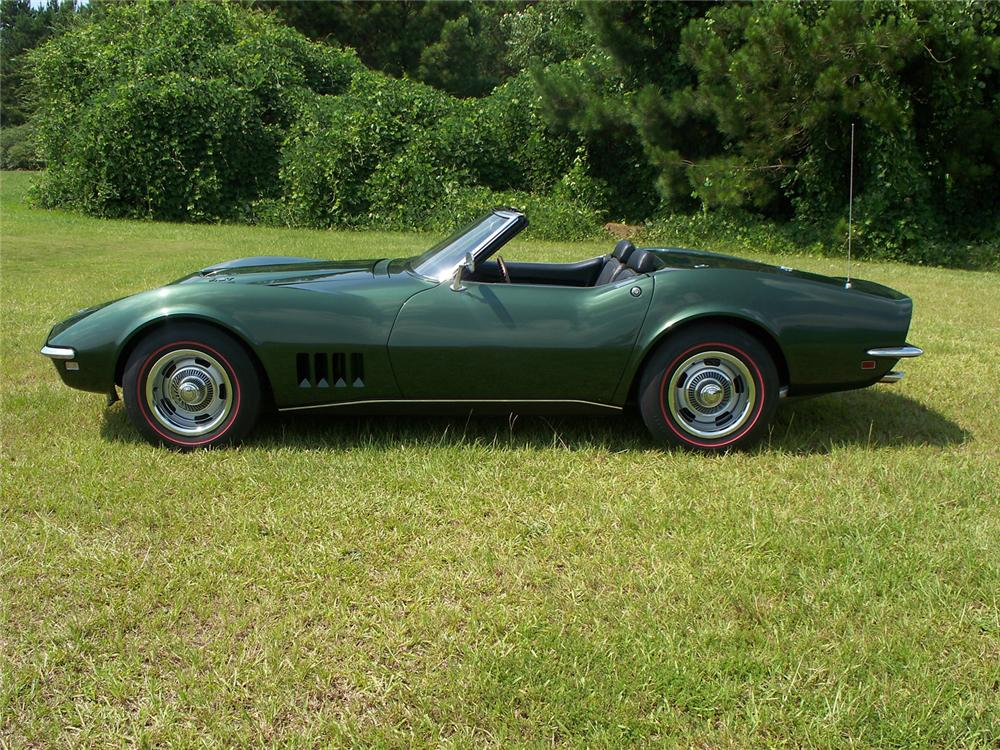 1968 CHEVROLET CORVETTE CONVERTIBLE - Side Profile - 66109