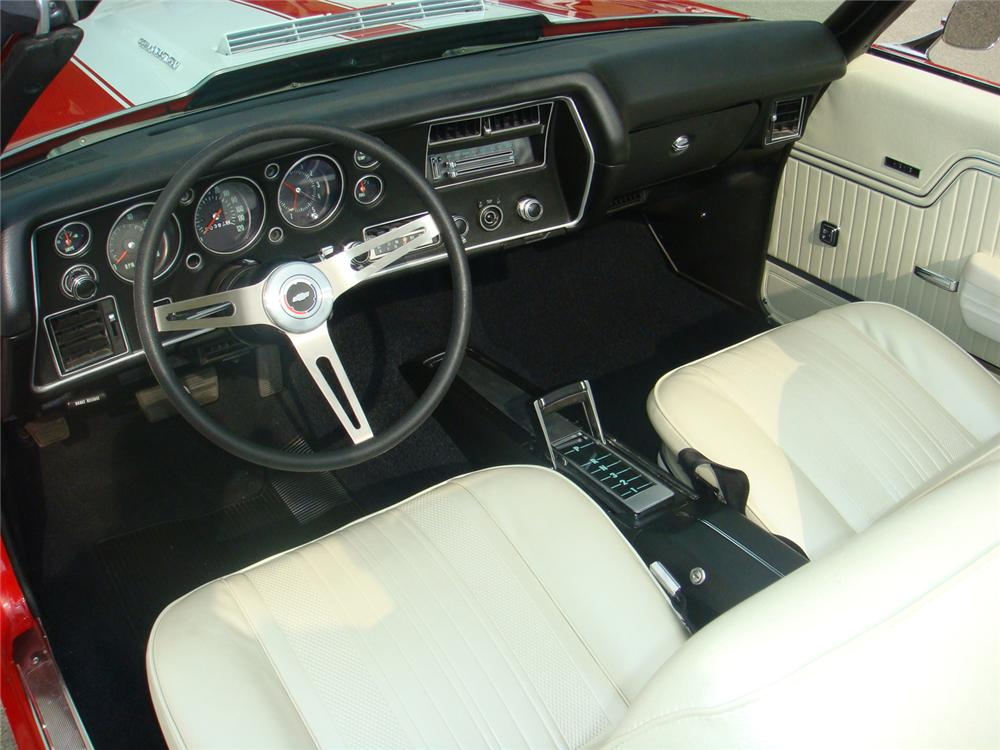 1970 CHEVROLET CHEVELLE SS LS6 CONVERTIBLE - Interior - 66113