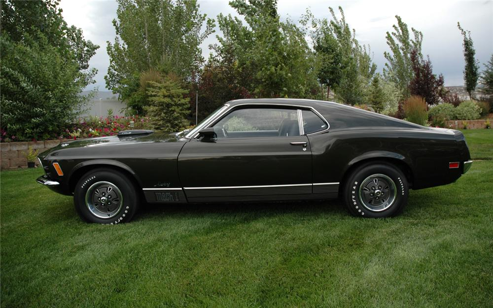 1970 FORD MUSTANG 428 SCJ FASTBACK - Side Profile - 66116