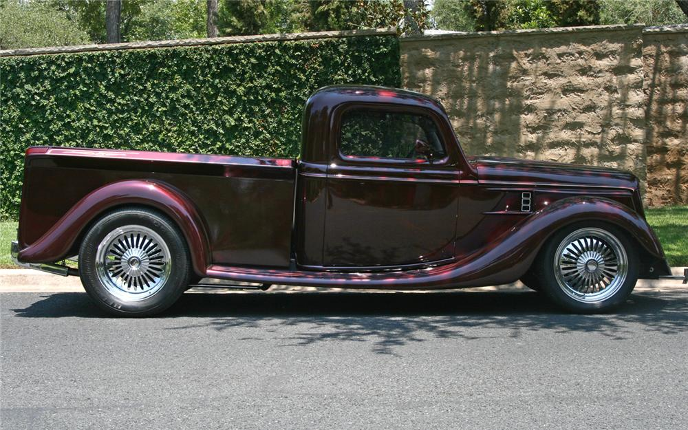1936 FORD CUSTOM PICKUP - Side Profile - 66125