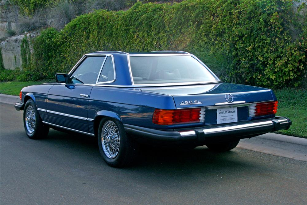 1979 MERCEDES-BENZ 450SL CONVERTIBLE - Rear 3/4 - 66126