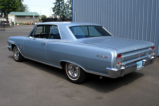 1964 CHEVROLET CHEVELLE MALIBU SS 2 DOOR SPORT COUPE - Rear 3/4 - 66130