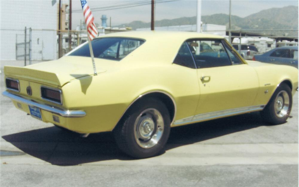 1967 CHEVROLET CAMARO RS COUPE - Rear 3/4 - 66144