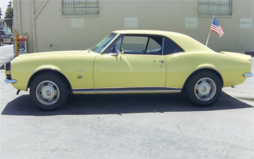 1967 CHEVROLET CAMARO RS COUPE - Side Profile - 66144