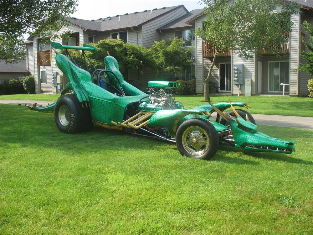 "2007 CUSTOM BUILT DRAGON RACE CAR ""DRAKKO"" - Front 3/4 - 66162"