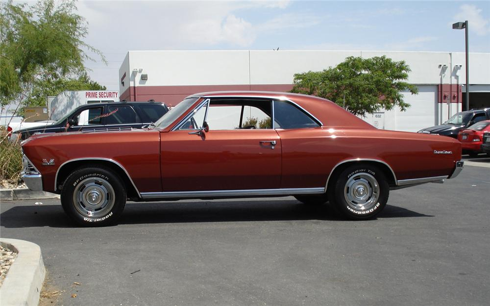 1966 CHEVROLET CHEVELLE SS 396 COUPE - Side Profile - 66165