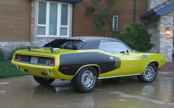 1971 PLYMOUTH CUDA COUPE - Rear 3/4 - 66176