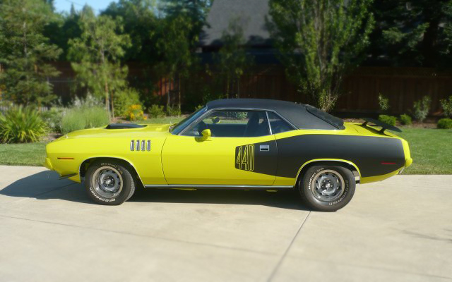 1971 PLYMOUTH CUDA COUPE - Side Profile - 66176