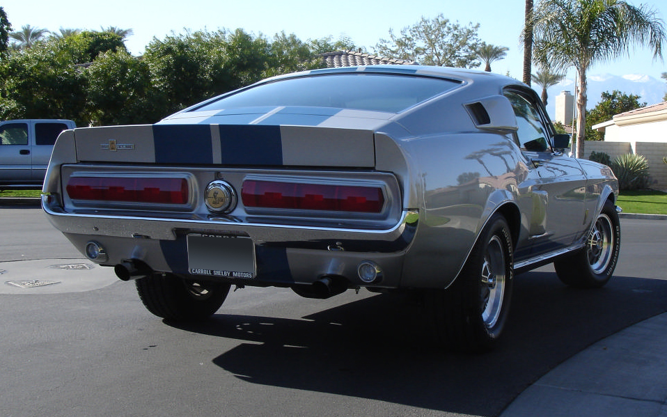 1967 FORD MUSTANG CUSTOM FASTBACK - Rear 3/4 - 66195