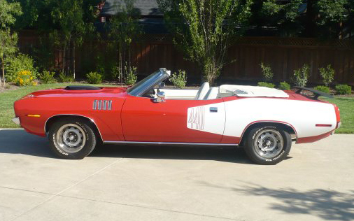 1971 PLYMOUTH CUDA CONVERTIBLE - Side Profile - 66198