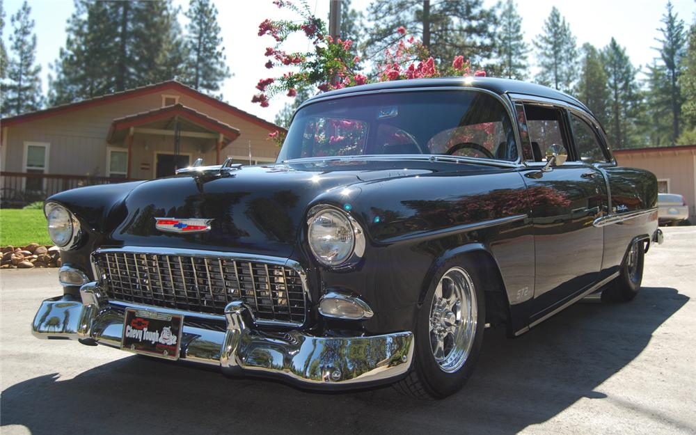 1955 CHEVROLET BEL AIR CUSTOM 2 DOOR HARDTOP - Front 3/4 - 66200