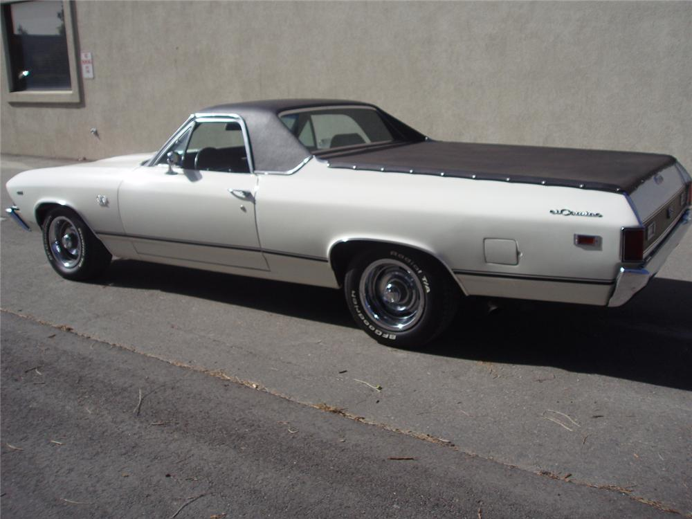 1969 CHEVROLET EL CAMINO SS PICKUP - Rear 3/4 - 66201
