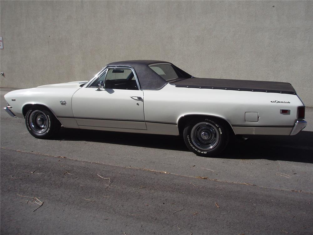 1969 CHEVROLET EL CAMINO SS PICKUP - Side Profile - 66201