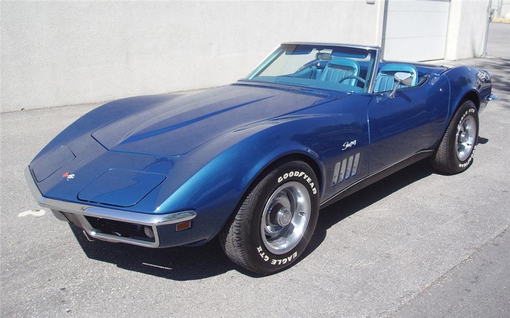 1969 CHEVROLET CORVETTE CONVERTIBLE - Front 3/4 - 66202