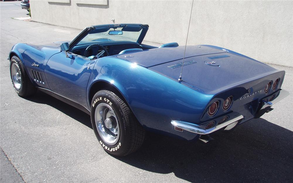1969 CHEVROLET CORVETTE CONVERTIBLE - Rear 3/4 - 66202
