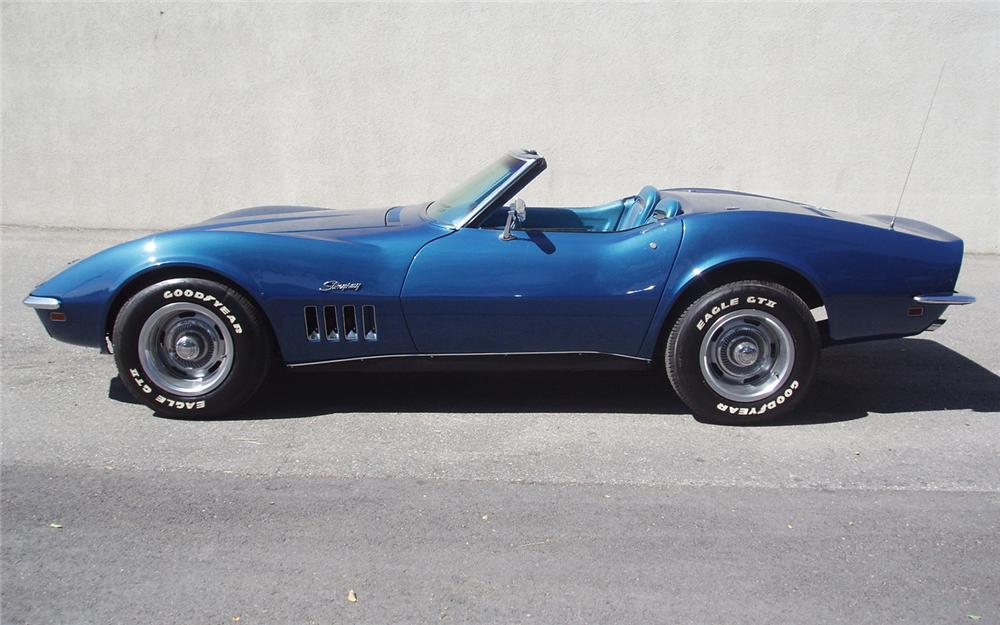 1969 CHEVROLET CORVETTE CONVERTIBLE - Side Profile - 66202