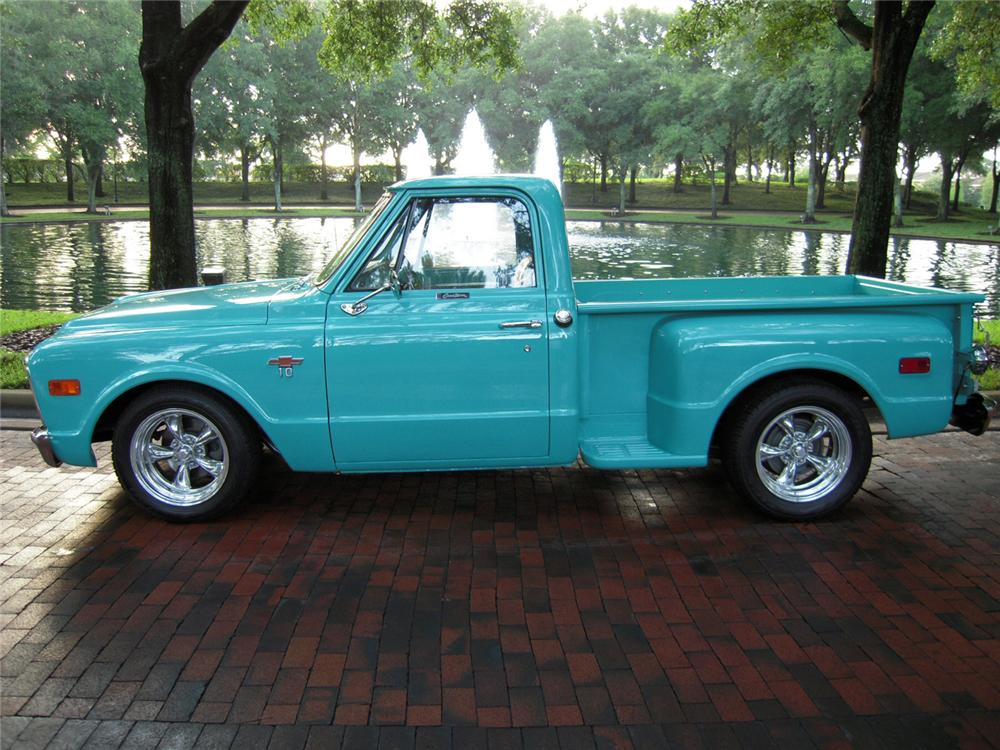 1968 CHEVROLET C-10 SHORT BED PICKUP - Front 3/4 - 66206