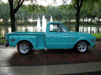 1968 CHEVROLET C-10 SHORT BED PICKUP - Side Profile - 66206