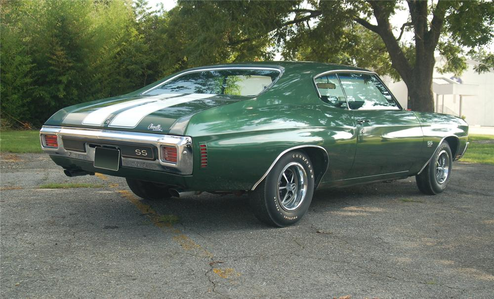 1970 CHEVROLET CHEVELLE LS6 COUPE - Rear 3/4 - 66233
