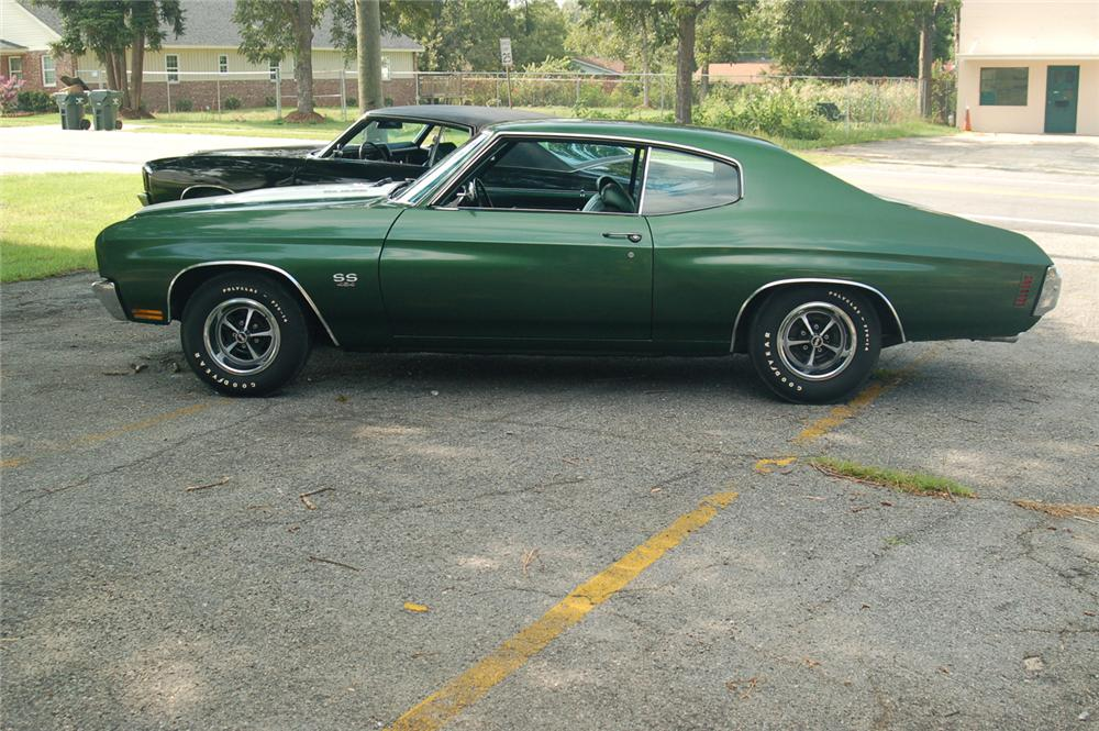 1970 CHEVROLET CHEVELLE LS6 COUPE - Side Profile - 66233