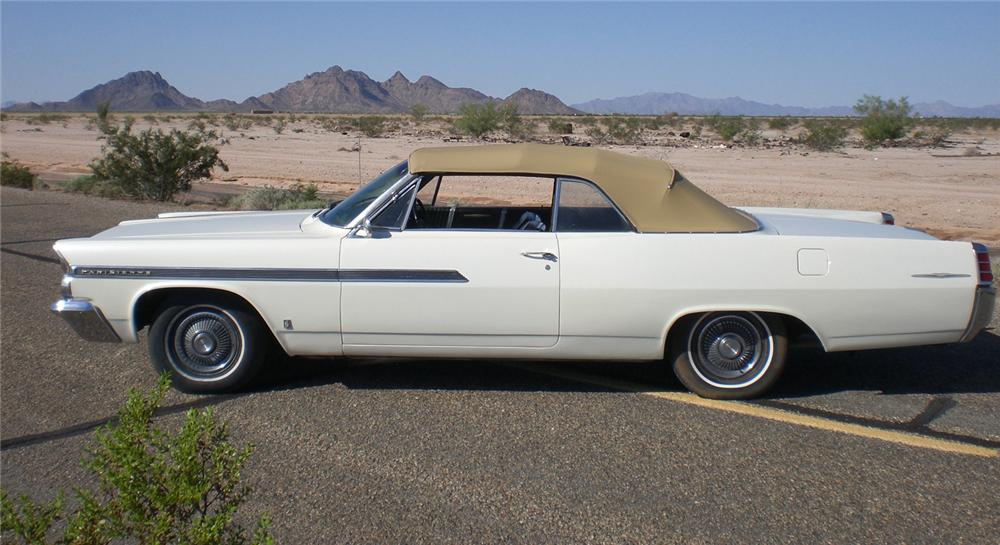 1963 PONTIAC PARISIENNE CONVERTIBLE - Side Profile - 66235