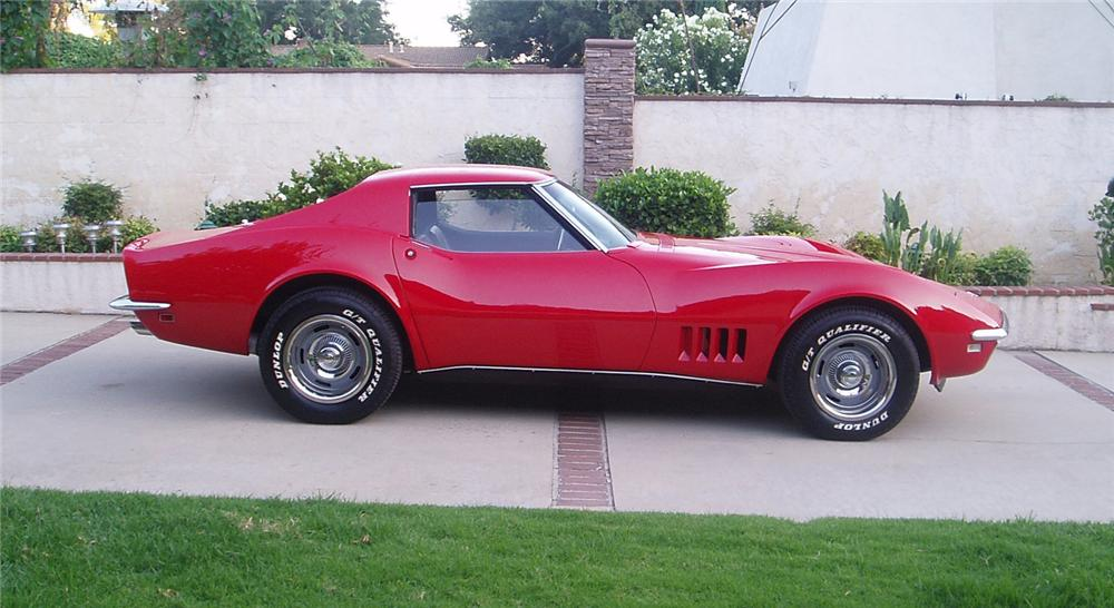 1968 CHEVROLET CORVETTE COUPE - Side Profile - 66236