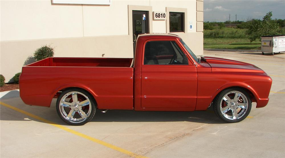 1972 CHEVROLET C-10 CUSTOM PICKUP - Front 3/4 - 66237