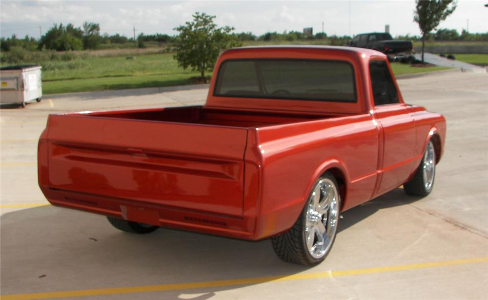 1972 CHEVROLET C-10 CUSTOM PICKUP - Rear 3/4 - 66237