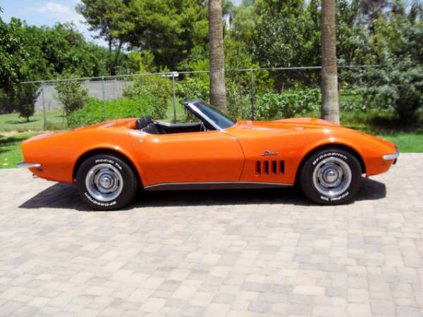 1969 CHEVROLET CORVETTE CONVERTIBLE - Side Profile - 66243