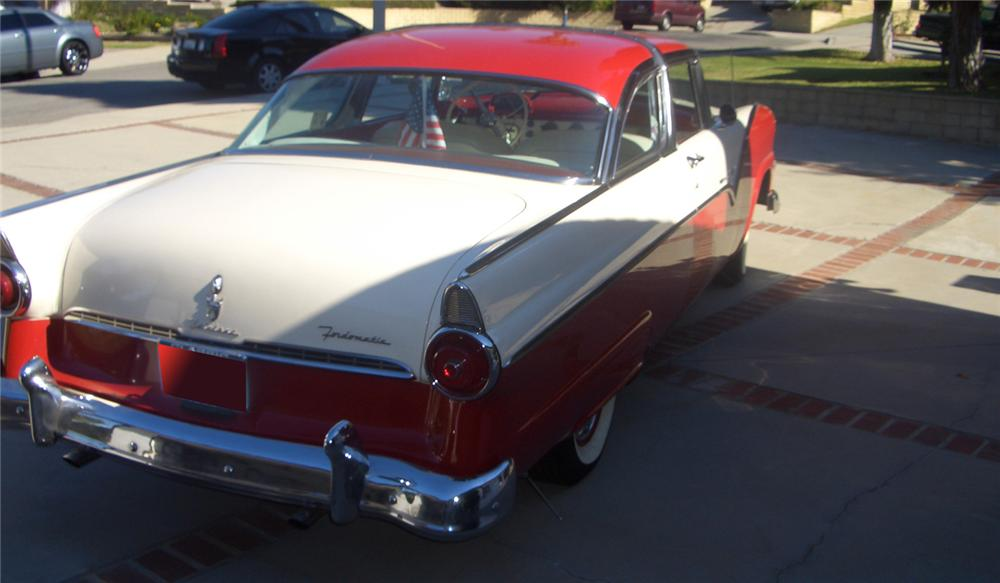 1955 FORD CROWN VICTORIA 2 DOOR COUPE - Rear 3/4 - 66247