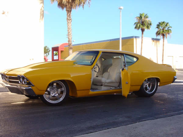 1969 CHEVROLET CHEVELLE SS CUSTOM 2 DOOR HARDTOP - Side Profile - 66284