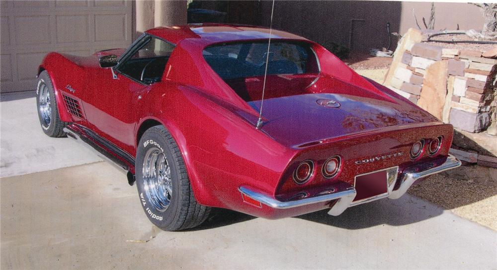 1972 CHEVROLET CORVETTE CUSTOM COUPE - Rear 3/4 - 66288