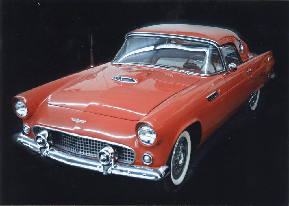 1956 FORD THUNDERBIRD CONVERTIBLE - Front 3/4 - 66301