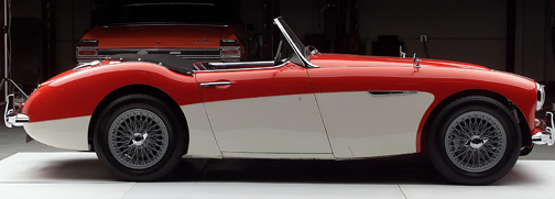 1960 AUSTIN-HEALEY BT7 ROADSTER - Side Profile - 66310