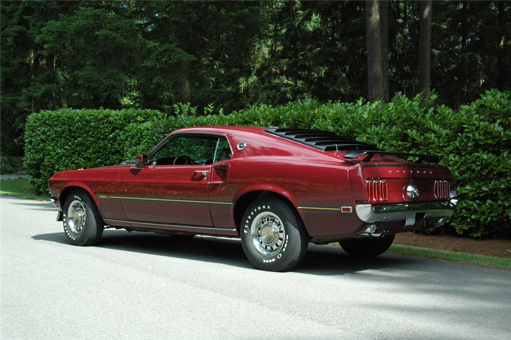 1969 FORD MUSTANG MACH 1 FASTBACK - Rear 3/4 - 66324