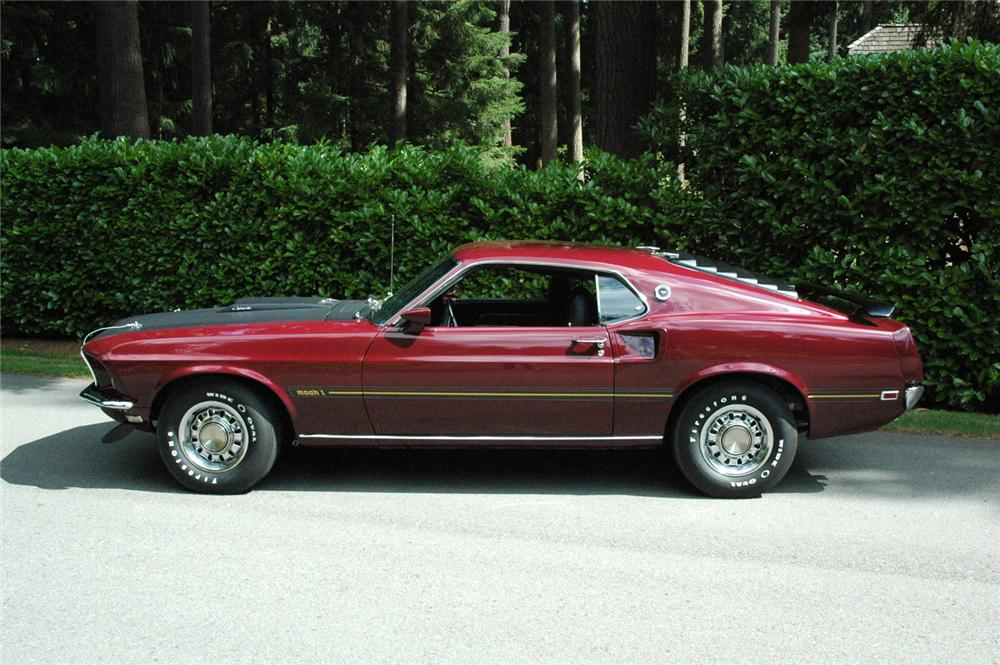 1969 FORD MUSTANG MACH 1 FASTBACK - Side Profile - 66324