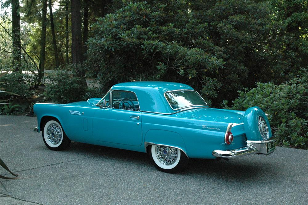 1956 FORD THUNDERBIRD CONVERTIBLE - Rear 3/4 - 66325