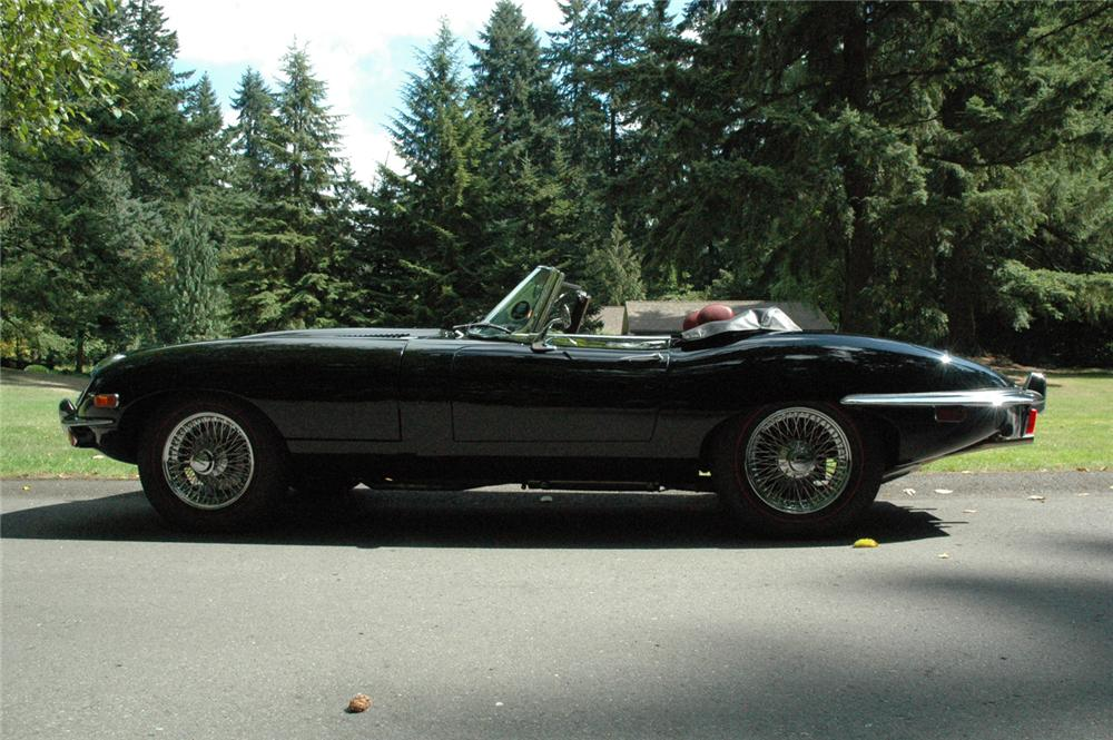 1970 JAGUAR XKE ROADSTER - Side Profile - 66329