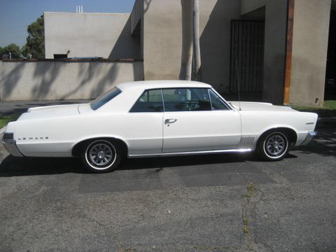 1965 PONTIAC LEMANS 2 DOOR HARDTOP - Side Profile - 66334