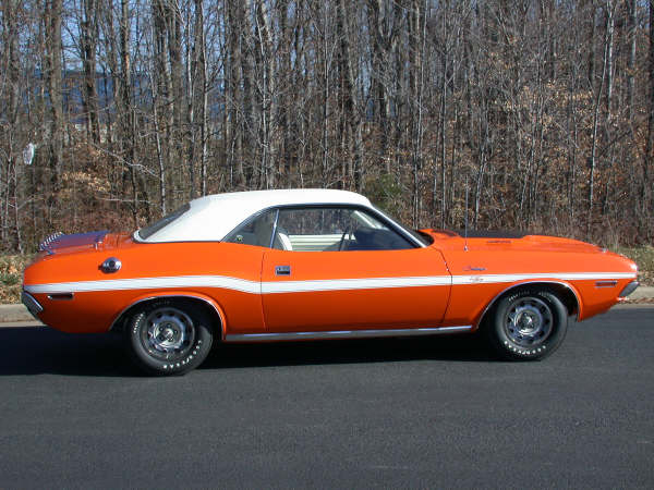 1970 DODGE CHALLENGER R/T COUPE - Side Profile - 66335