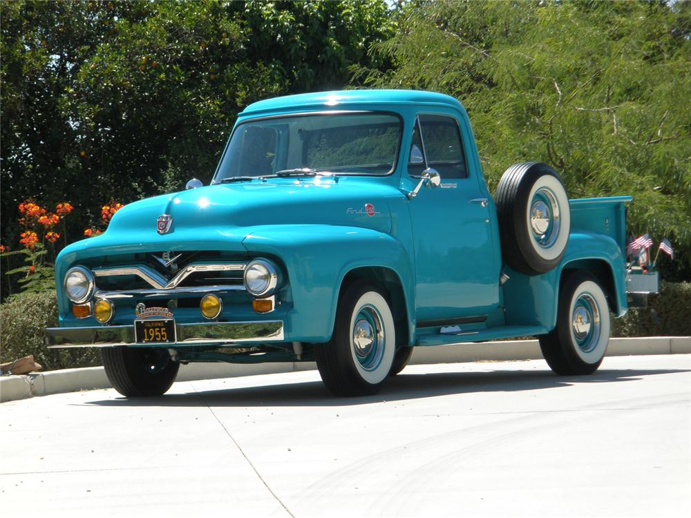 1955 FORD F-100 PICKUP - Front 3/4 - 66361