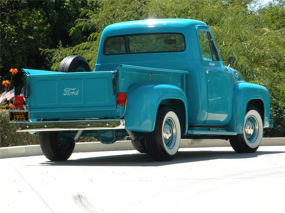 1955 FORD F-100 PICKUP - Rear 3/4 - 66361