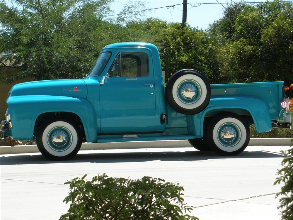 1955 FORD F-100 PICKUP - Side Profile - 66361