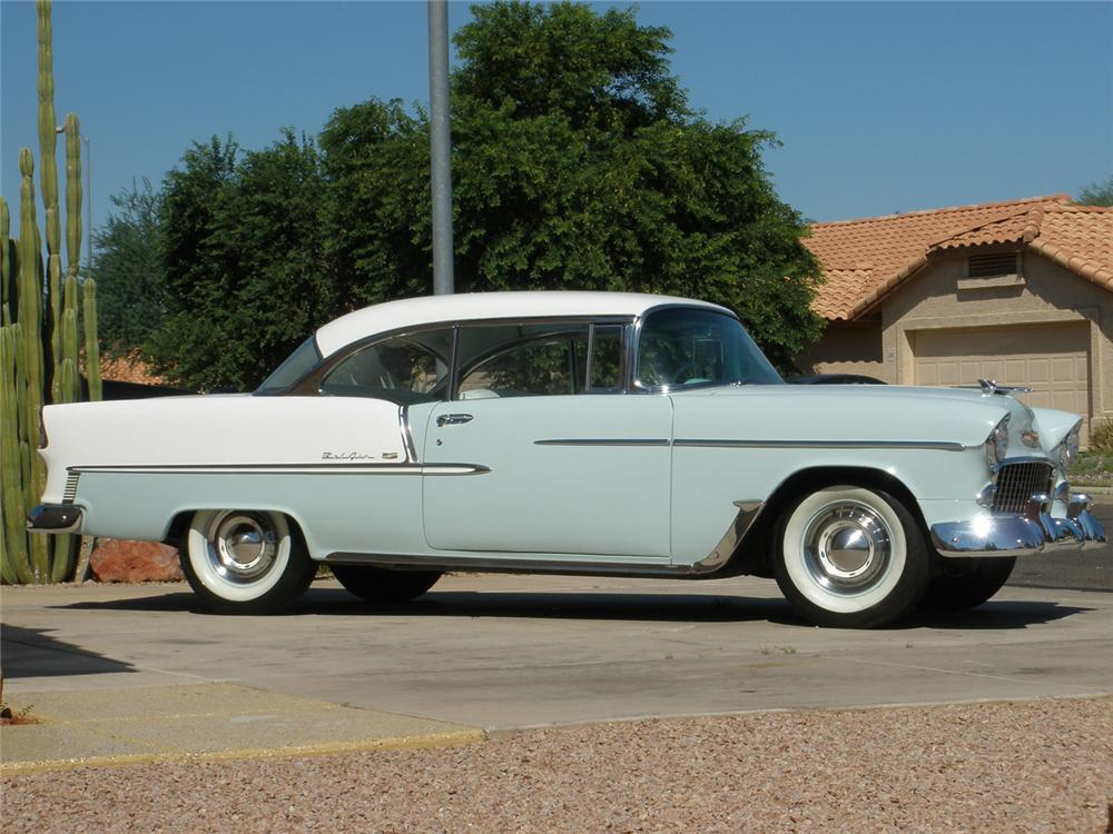 1955 CHEVROLET BEL AIR 2 DOOR HARDTOP - Side Profile - 66362