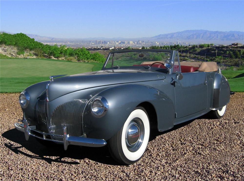 1940 LINCOLN ZEPHYR CONVERTIBLE - Front 3/4 - 66366