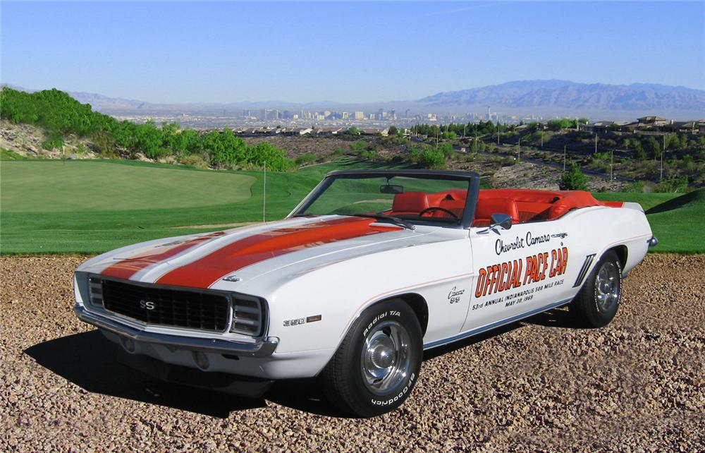 1969 CHEVROLET CAMARO INDY PACE CAR RS/SS CONVERTIBLE - Front 3/4 - 66370