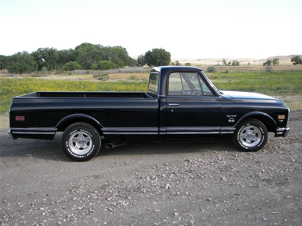 1970 CHEVROLET C-10 CUSTOM PICKUP - Side Profile - 66377