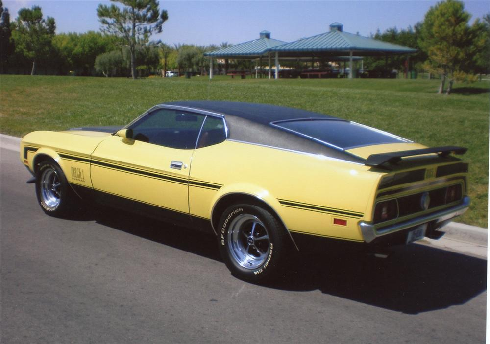 1971 FORD MUSTANG MACH 1 FASTBACK - 66379 Mustang Mach 1 Fastback 1971