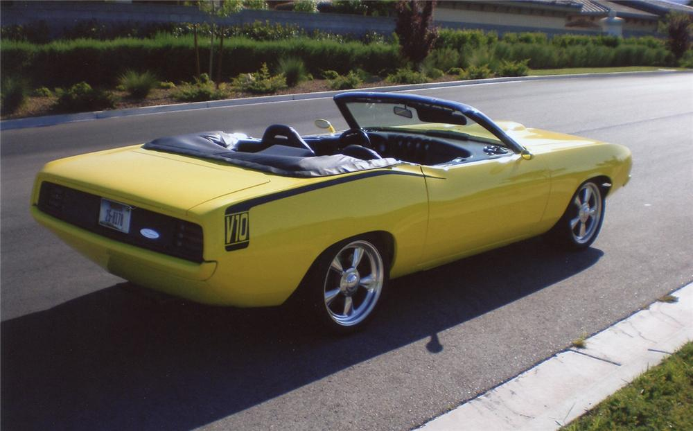 1970 PLYMOUTH BARRACUDA CUSTOM CONVERTIBLE - Rear 3/4 - 66380