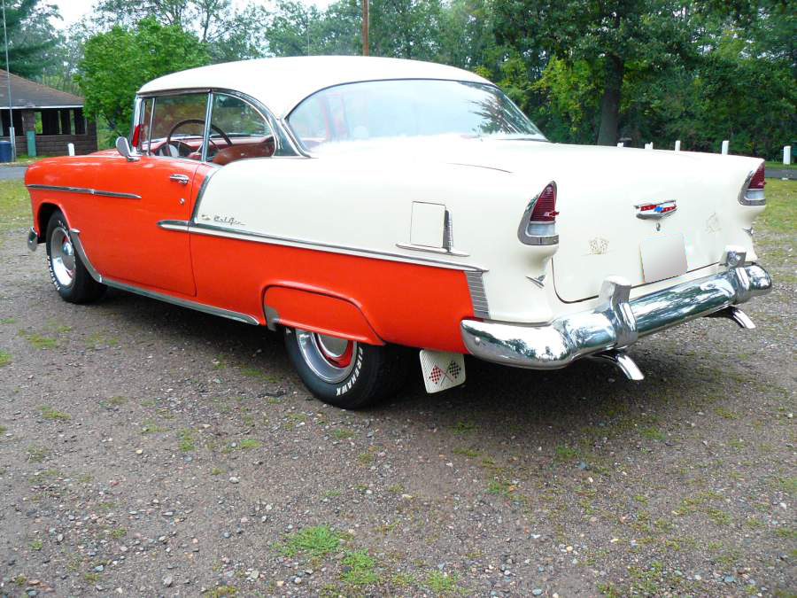 1955 CHEVROLET BEL AIR 2 DOOR HARDTOP - Rear 3/4 - 66403